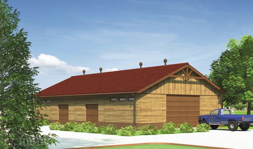 GMC16S Budynek garażowo-magazynowy w technologii drewnianej