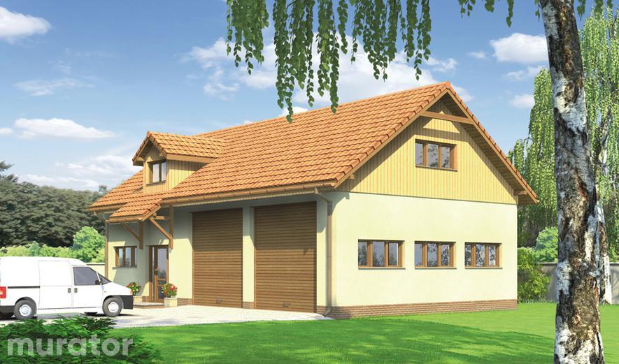 GMC18 Budynek garażowo-magazynowy z pom. pomocniczymi i poddaszem gospodarczym