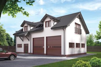 Budynek garażowo-magazynowy z częścią mieszkalną (sezonową) i pom. pomocniczymi