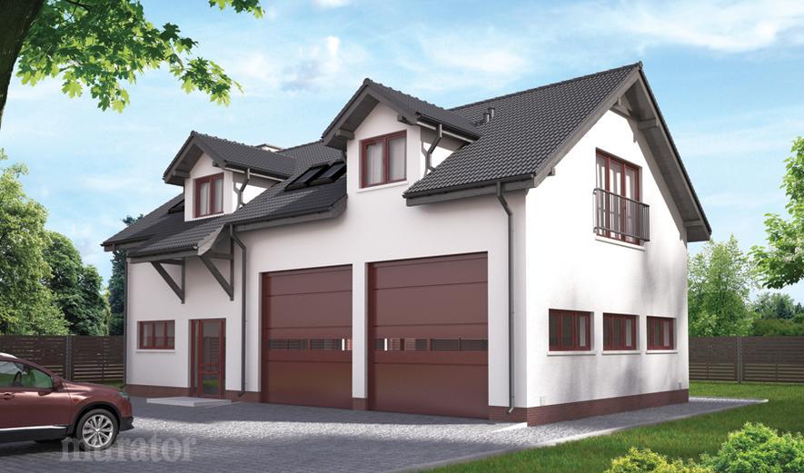 GMC18b Budynek garażowo-magazynowy z pom. pomocniczymi i poddaszem mieszkalnym