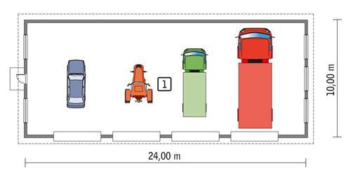 Rzut parteru POW. 223,9 m²