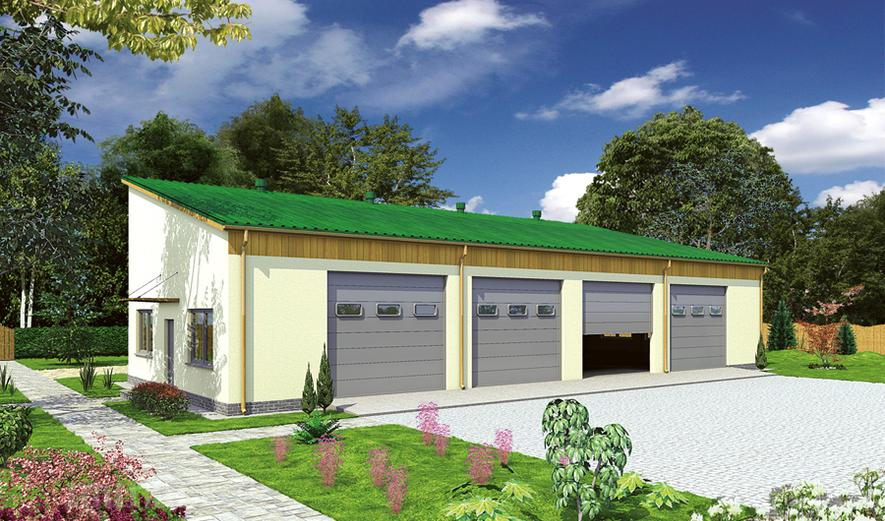 GMC19a Budynek garażowo-magazynowy