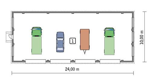 Rzut parteru POW. 221,9 m²