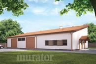 GMC21c Budynek garażowo-magazynowy z częścią pomocniczą