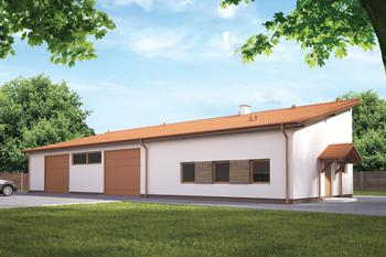 Budynek garażowo-magazynowy z częścią pomocniczą GMC21c