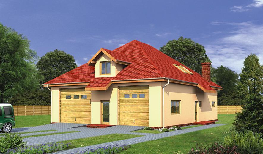 GMC23 Budynek garażowo-magazynowy z poddaszem gospodarczym
