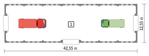 Rzut parteru POW. 483,8 m²