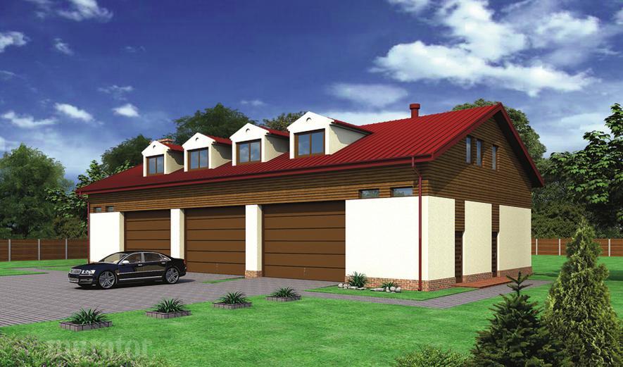 GMC27 Budynek garażowo-magazynowy z poddaszem mieszkalno-gospodarczym