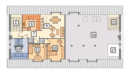 Rzut poddasza POW. 261,0 m²