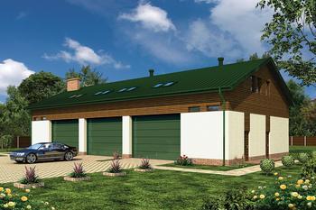 Budynek garażowo-magazynowy z poddaszem użytkowym