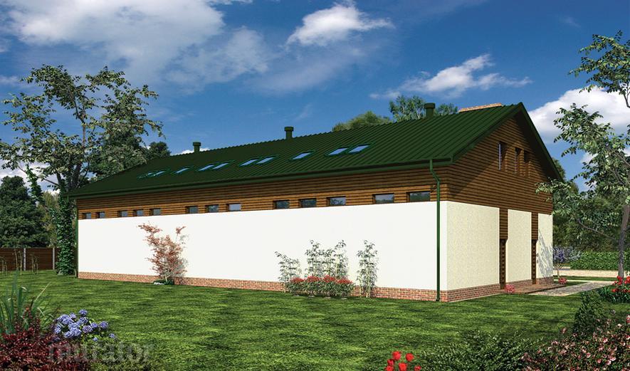 GMC27c Budynek garażowo-magazynowy z poddaszem użytkowym