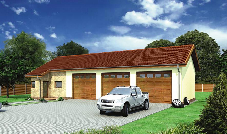 GMC28 Budynek garażowo-magazynowy z częścią pomocniczą