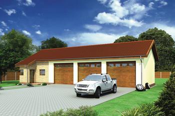 Budynek garażowo-magazynowy z częścią pomocniczą GMC28