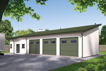 Budynek garażowo-magazynowy z częścią pomocniczą GMC28a