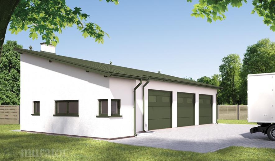 GMC28a Budynek garażowo-magazynowy z częścią pomocniczą