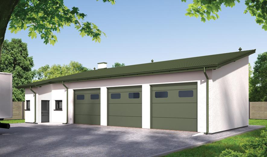 GMC28c Budynek garażowo-magazynowy