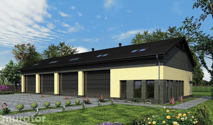GMC30c Budynek garażowo-magazynowy z pom. pomocniczymi  i poddaszem użytkowym