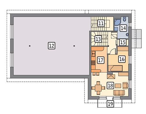 Rzut piętra POW. 148,3 m²