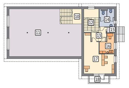 Rzut poddasza POW. 164,8 m²