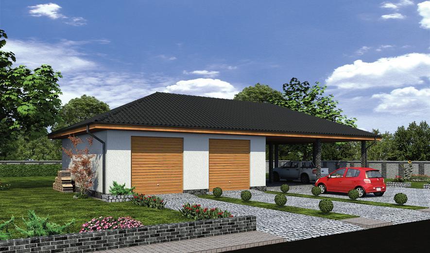 GMC34 Budynek garażowo-magazynowy z wiatą