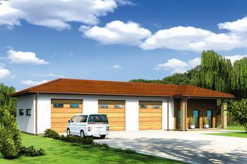Budynek garażowo-magazynowy z pom. pomocniczymi i częścią rekreacyjną