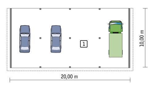 Rzut parteru POW. 194,7 m²