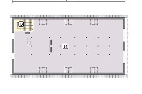 Rzut poddasza POW. 307,6 m²