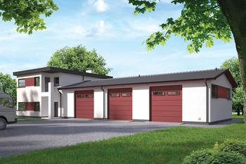 Budynek garażowo-magazynowy z cześcią mieszkalną