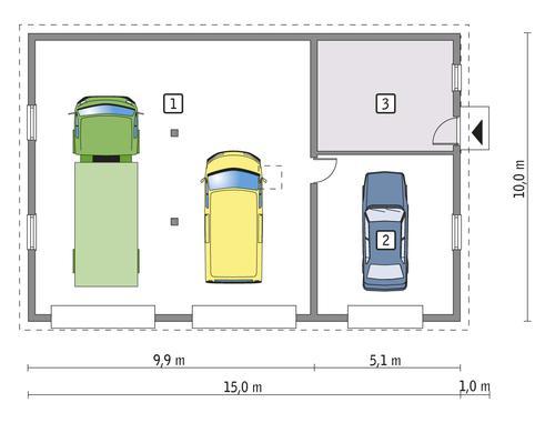 Rzut parteru POW. 134,1 m²