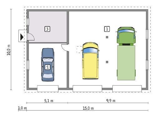 Rzut parteru lustro POW. 134,1 m²