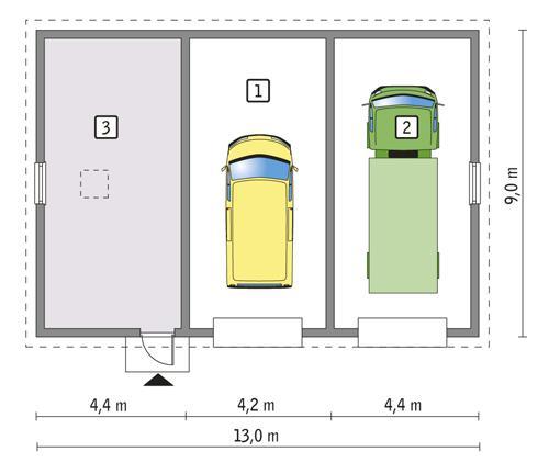 Rzut parteru POW. 101,5 m²