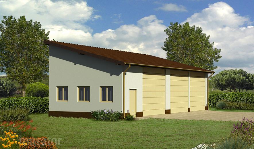 GMC48a Budynek garażowo-magazynowy
