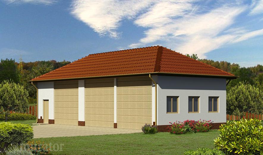 GMC48b Budynek garażowo-magazynowy