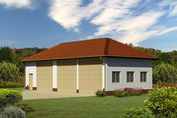 Budynek garażowo-magazynowy GMC48b