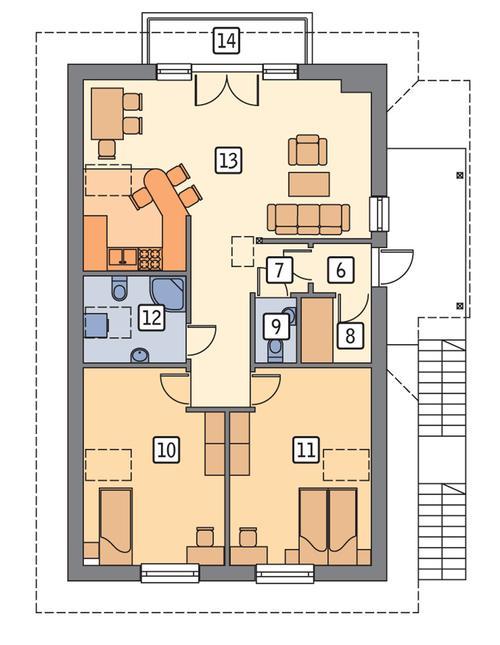 Rzut poddasza POW. 88,3 m²