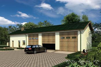 Budynek garażowo-magazynowy z pom. pomocniczymi