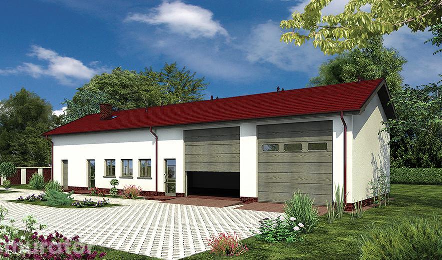 GMC50a Budynek garażowo-magazynowy z częścią mieszkalną i pom. pomocniczymi