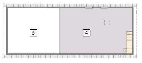Rzut piętra POW. 86,0 m²