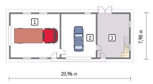 Rzut parteru POW. 148,7 m²