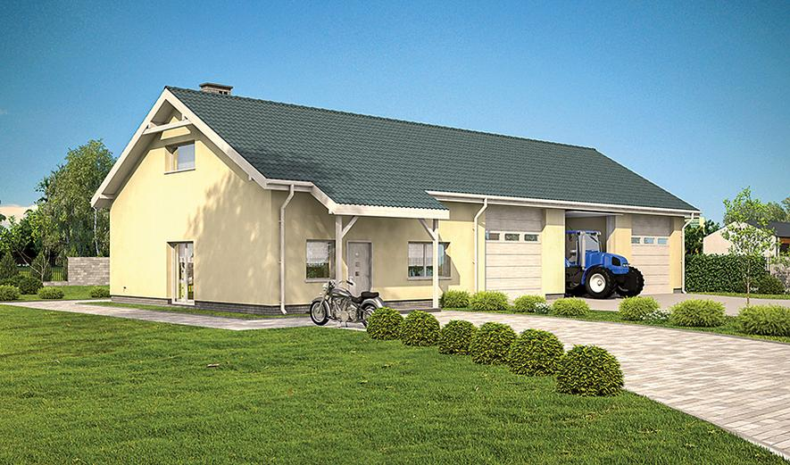 GMC56 Budynek garażowo-magazynowy z częścią mieszkalną i pom. pomocniczymi