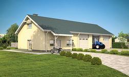 Budynek garażowo-magazynowy z częścią mieszkalną i pom. pomocniczymi