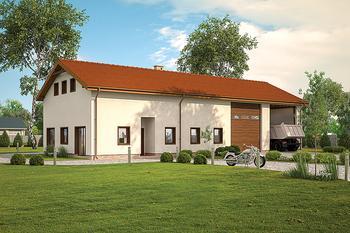 Budynek garażowo-magazynowy z częścią mieszkalną, pomocniczą i antresolą gospodarczą