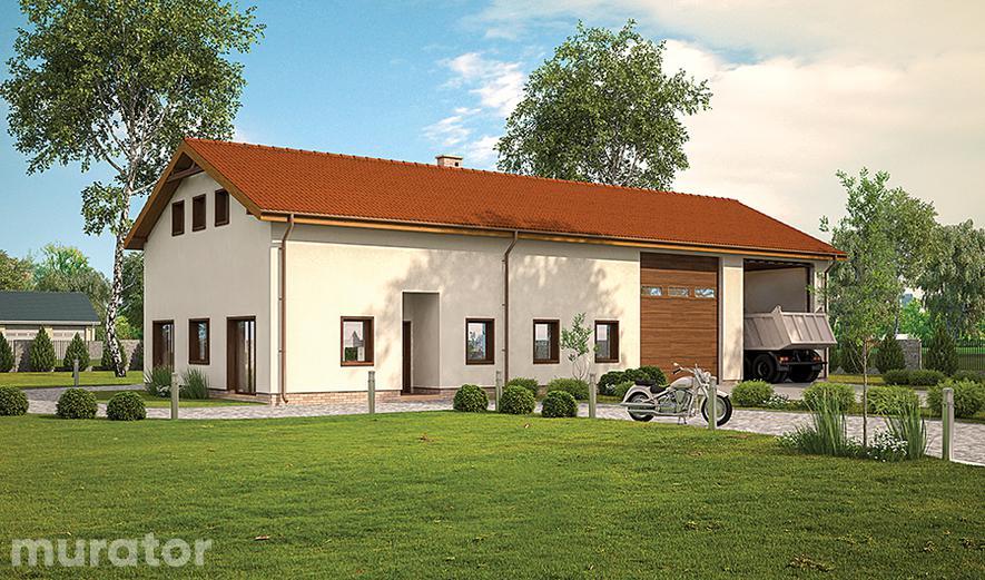 GMC57a Budynek garażowo-magazynowy z częścią mieszkalną, pomocniczą i antresolą gospodarczą