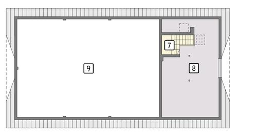 Rzut poddasza POW. 51,1 m²
