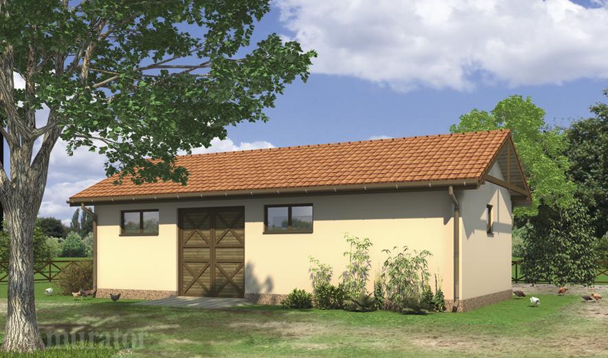 IG01 Budynek inwentarsko-gospodarczy z garażem