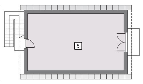 Rzut poddasza POW. 56,5 m²