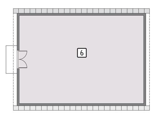 Rzut poddasza POW. 128,7 m²