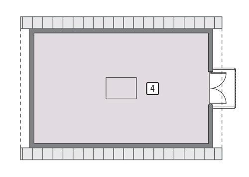 Rzut poddasza POW. 55,3 m²
