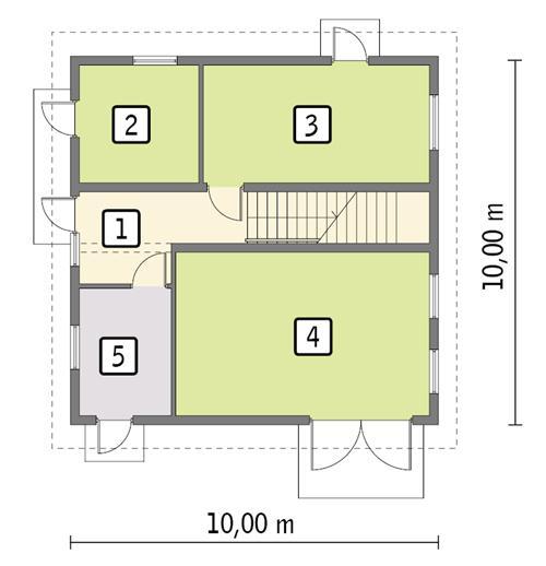 Rzut parteru POW. 84,1 m²