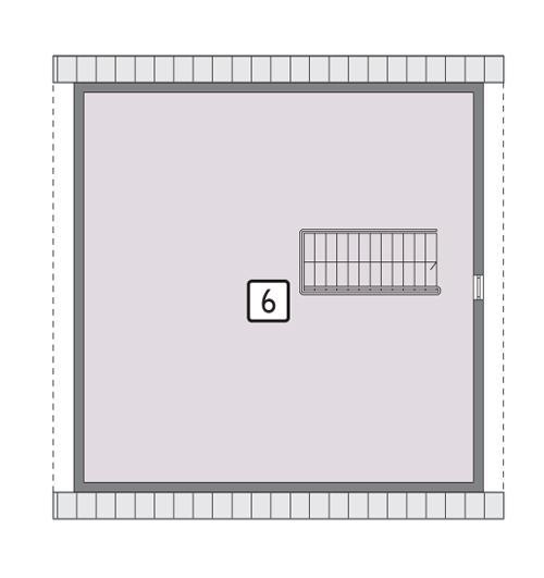Rzut poddasza POW. 85,5 m²